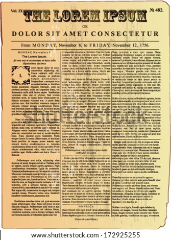 Vintage newspaper - stock vector