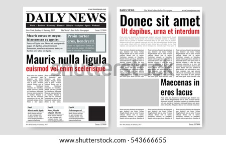 Newspaper Headline Stock Images, Royalty-Free Images & Vectors