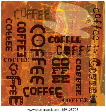 Vintage, nostalgic coffee sign, vector eps 10 - stock vector