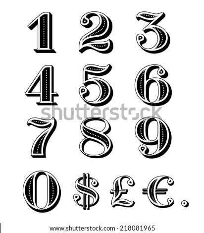 Vintage Numbers Font | www.pixshark.com - Images Galleries ...