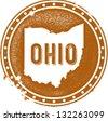 Vintage Ohio USA State Stamp - stock photo