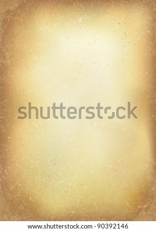 Vintage old brown realistic paper background. Vector, EPS10. - stock vector