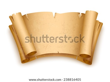 Vintage old paper scripts. Eps10 vector illustration. Isolated on white background - stock vector