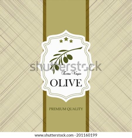 Vintage olive labels - stock vector