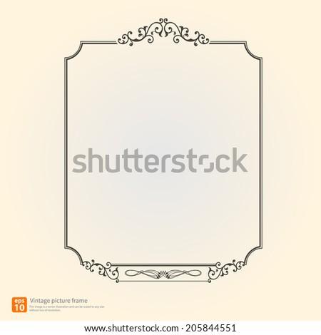 Vintage or Retro picture frame vector design - stock vector