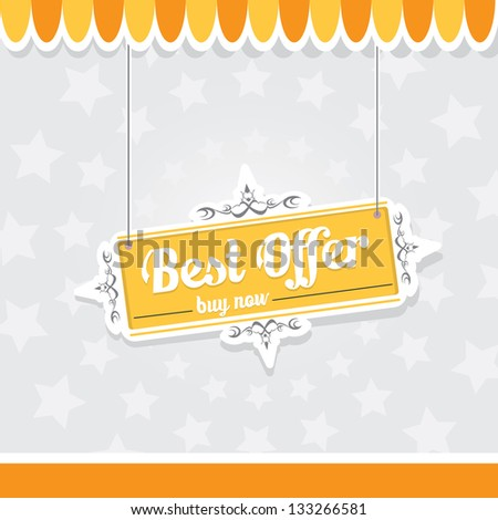 Vintage orange vector background with place for your text. cover and postcard design. - stock vector