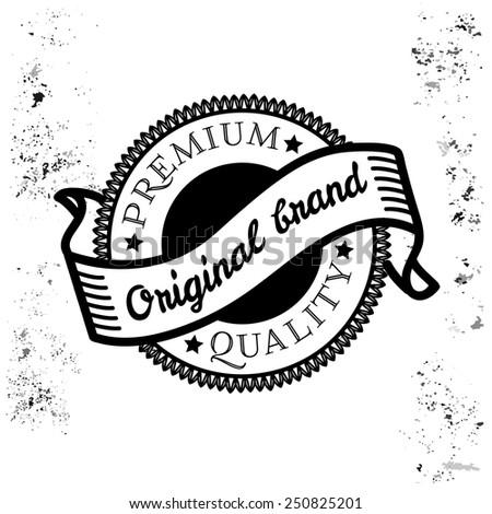 Vintage Original brand label vector - stock vector