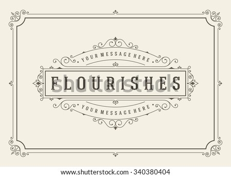 Vintage Ornament Greeting Card Vector Template Stock Vector HD ...