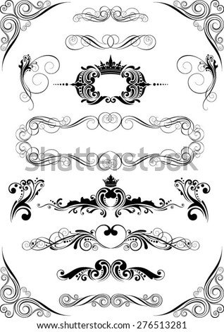 Vintage ornamental elements - stock vector