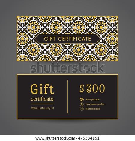 vintage ornamental gift certificate vector editable stock vector 566899822 shutterstock. Black Bedroom Furniture Sets. Home Design Ideas