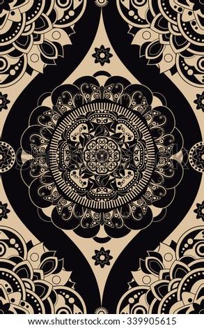Vintage ornamental seamless pattern - stock vector