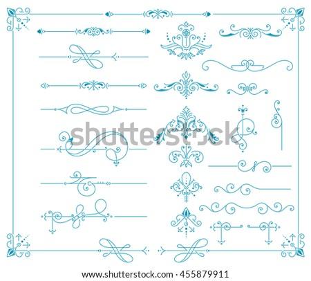 Vintage Ornaments Decorations Design Elements.  Vector stock - stock vector