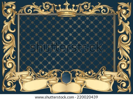 Vintage ornate decorative frame - stock vector