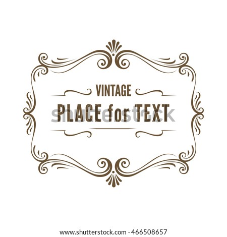 vintage ornate frame vector illustration stock vector royalty free