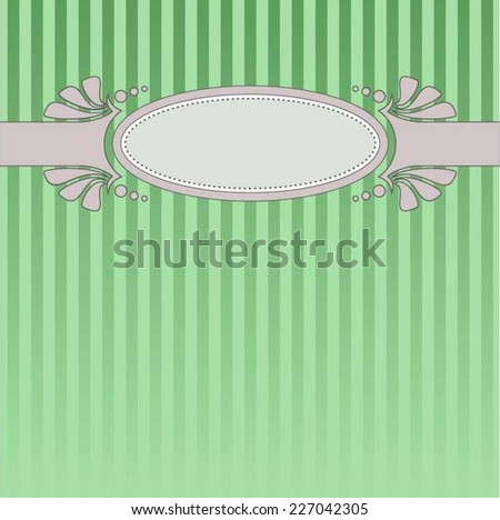 Vintage pale-green striped cover with oval banner