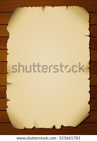 vintage paper background on boards - stock vector