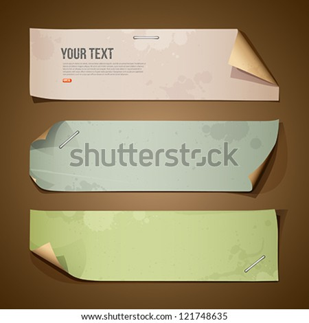 Vintage paper Long collections, vector illustration - stock vector