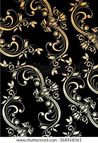Vintage pattern - stock vector