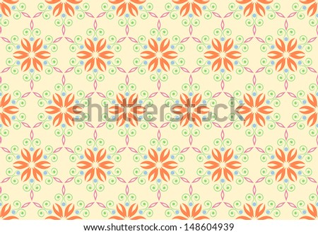 Vintage pattern background with floral ornament. seamless - stock vector