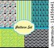 vintage pattern set. vector illustration - stock vector