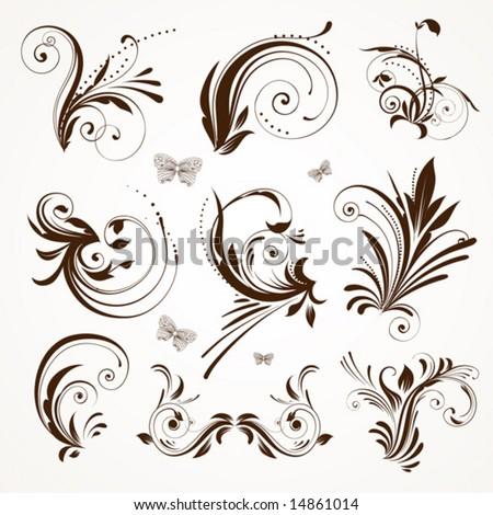 Vintage patterns for design. - stock vector