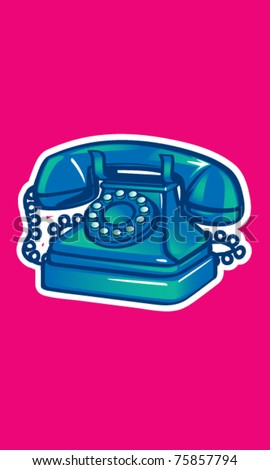 Vintage Phone Illustration - stock vector