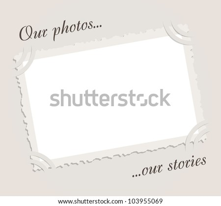 Vintage photo frame - stock vector