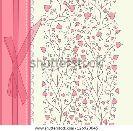 Vintage pink background for invitation, backdrop, card, new year brochure, banner, border, wallpaper, template, texture vector eps 10 - stock vector