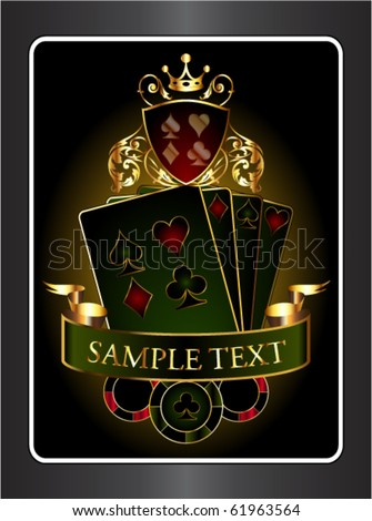 Vintage poker background - stock vector