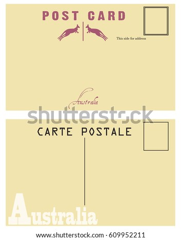 Vintage Postcard Australia Option Back Postcard Stock Vector