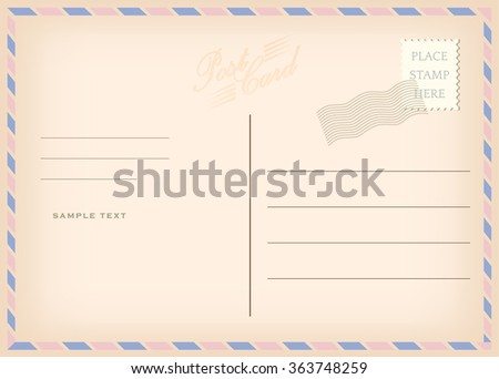 Vintage postcard, - serenity and rose quartz vintage pastel color vector design - stock vector