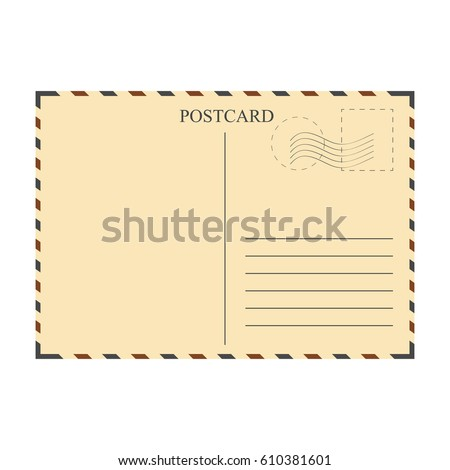 Vintage Postcard Template Vector Illustration Stock Vector