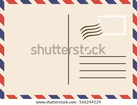 Vintage postcard vector template stock vector 566244124 shutterstock vintage postcard vector template pronofoot35fo Image collections