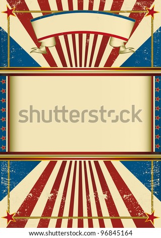 Vintage poster circus. A vintage poster with a grunge background for your advertising - stock vector