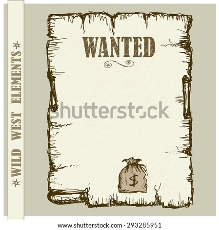 Vintage poster in Wild West style. Vector illustration - stock vector