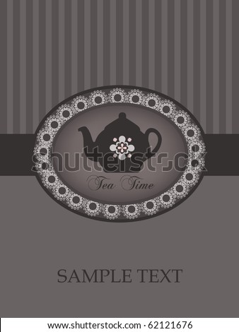 vintage pottery design - stock vector