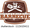 Vintage Premium Barbecue/BBQ Graphic - stock vector