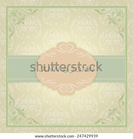 vintage quality wedding card,vector illustration