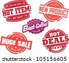 Vintage Retail Store Sale Stamps - stock photo