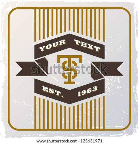 vintage retro background with tape - stock vector