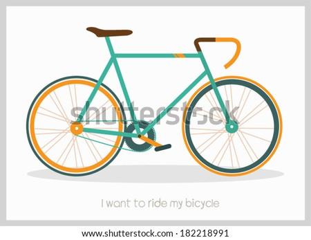 Vintage Retro Bicycle  - stock vector