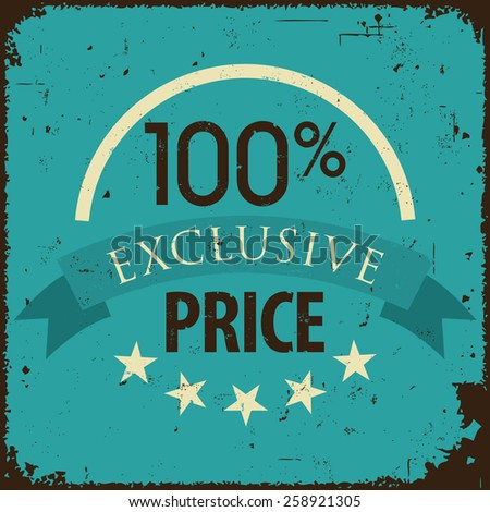 Vintage retro discount, promotion, and sale banner - stock vector