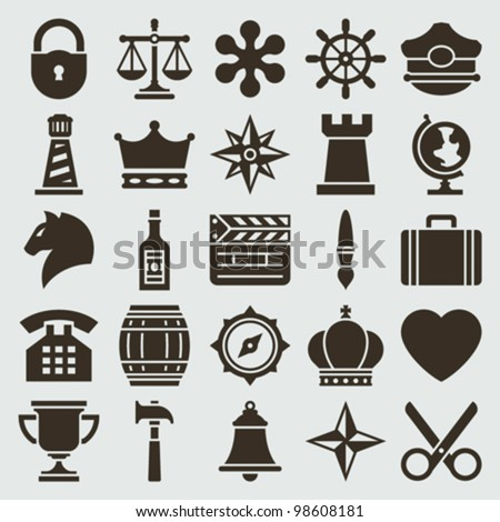 Vintage retro icons set. Vector design elements.