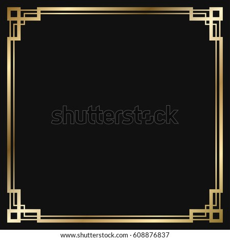 vintage retro style invitation art deco stock vector 2018 rh shutterstock com art deco border designs art deco borders uk