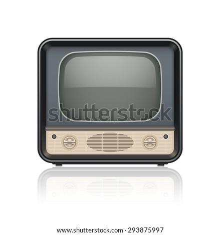 Vintage Retro Tv Set Icon Eps10 Stock Vector 293875997 - Shutterstock