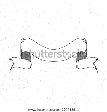 Vintage ribbon banner. - stock vector