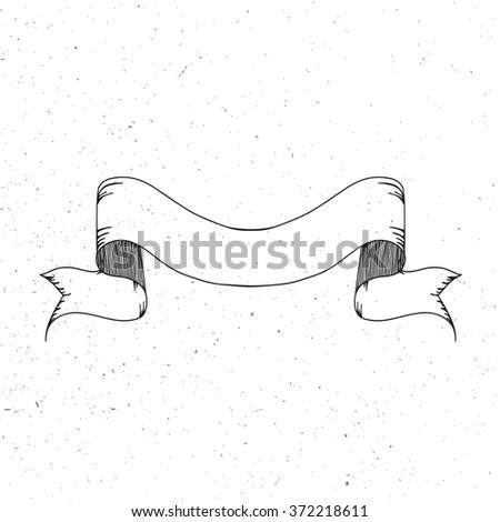 Vintage ribbon banner. - stock vector