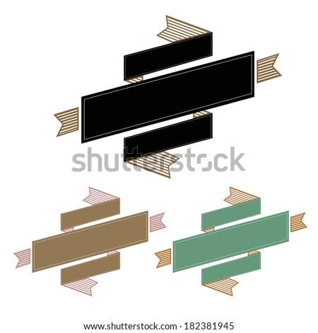Vintage Ribbon Banner, Vector Illustration - stock vector
