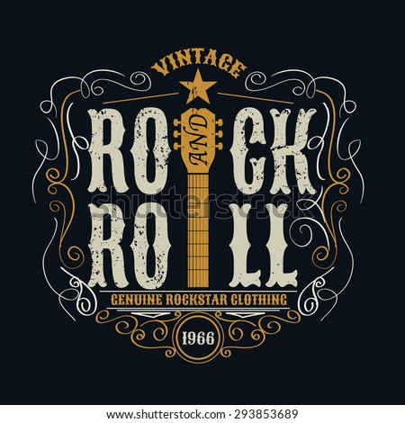 Rock stock images royalty free images vectors for Stock t shirt designs