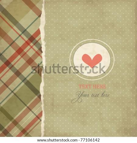 Vintage romantic card - stock vector